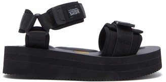 Suicoke Cel-vpo Velcro-strap Sandals - Black