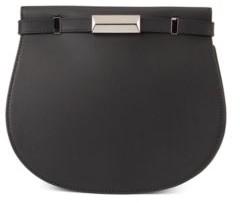 BOSS Italian-leather saddle bag with signature hardware