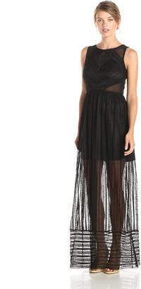 Minuet Women's Maxi Lace Illusion Dress
