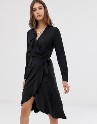 InWear Octavia Wrap Frill Dress-Black