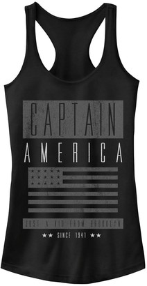 Licensed Character Juniors' Marvel Captain America Vintage Brooklyn Poster Tank