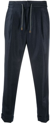 Brunello Cucinelli Pinstriped Tapered Trousers