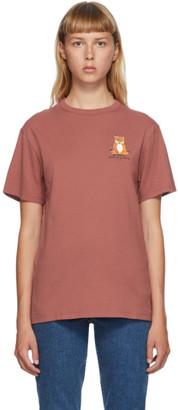 MAISON KITSUNÉ Red Lotus Fox T-Shirt