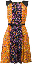 Versace Flower Thrift pleated mini dress - women - Silk/Calf Leather/Acetate/Viscose - 38