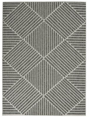 "Ebern Designs Moret Power Loom Gray Indoor/Outdoor Use Rug Rug Size: Rectangle 7'10"" x 9'10"""
