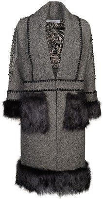 The Extreme Collection Faux Fur Long Coat Saint-Moritz