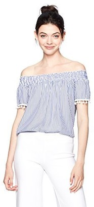 Love, Fire Love Fire Women's Smocked Off The Shoulder Blouse
