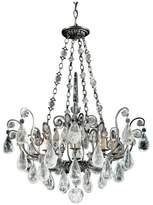 Schonbek Versailles Rock Crystal 8-Light Chandelier in Antique Pewter