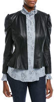 Rebecca Taylor Victorian Fitted Leather Jacket