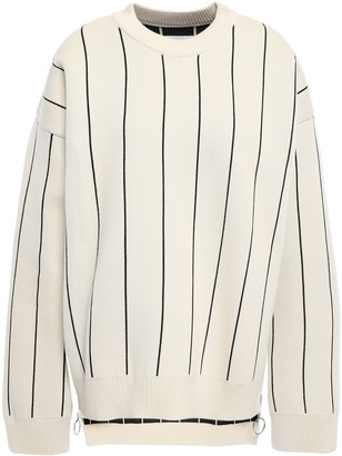 Paco Rabanne Pinstriped Cotton Sweater