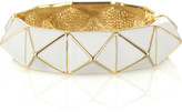 White enamel pyramid bangle