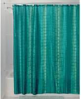 "InterDesign Moxi Fabric Shower Curtain - 72"" x 72"", Blue/Green"