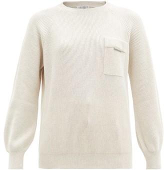 Brunello Cucinelli Rib-knit Cotton Sweater - Ivory