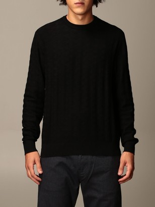 Emporio Armani Sweater In Houndstooth Viscose Blend