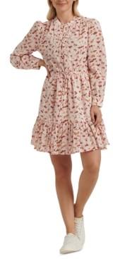 Lucky Brand Riley Tie-Waist Mini Dress