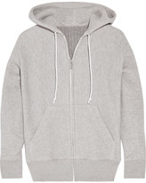Sacai Cotton-blend And Wool-blend Hooded Top - Stone