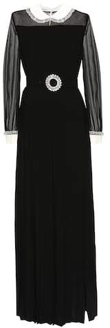 Miu Miu Crystal-embellished gown