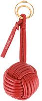 Balenciaga braided ball keyring