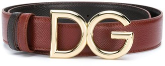 Dolce & Gabbana Reversible Logo Plaque Belt