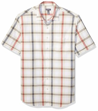 Van Heusen Men's Big Air Short Sleeve Button Down Poly Rayon Shirt