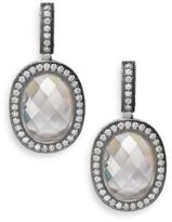 Freida Rothman Oval Pavé Halo Drop Earrings