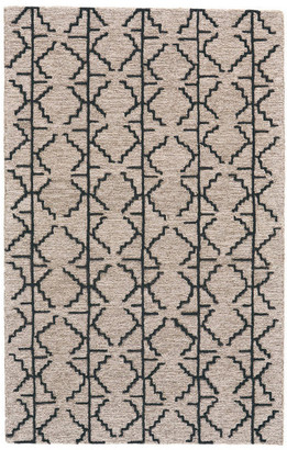 Weave & Wander Fadden Rug, Charcoal and Gray, 2'x3'