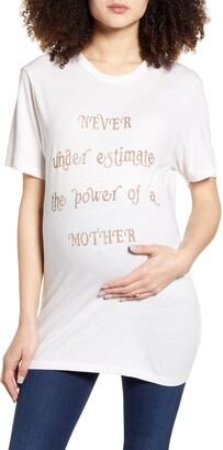 Bun Maternity Never Underestimate Maternity Graphic Tee