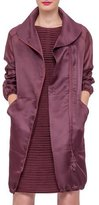 Akris Long-Sleeve Zip-Front Parka, Dahlia