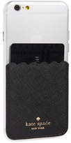 Kate Spade Scallop Leather Stick-On Smartphone Case Pocket - Black