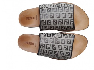 Fendi Beige Cloth Sandals