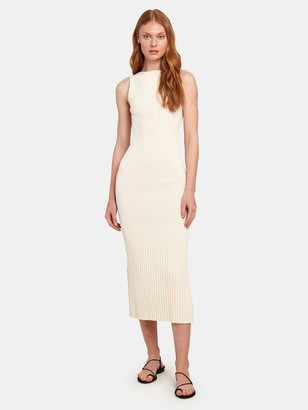 Bec & Bridge White Water Rib Midi Dress