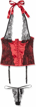 Dreamgirl Women's Boned Bustier with Halter Ties