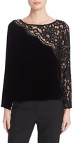 Tracy Reese Women's Lace Combo Tee