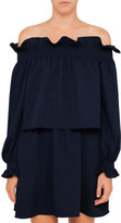 Diane von Furstenberg Georgie Off The Shoulder Dress
