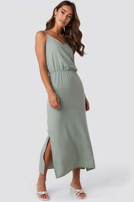 Trendyol End Strap Long Dress Green