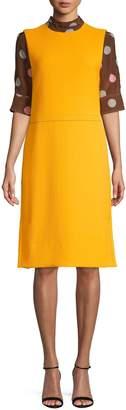 Marni Wool & Silk-Blend Shift Dress