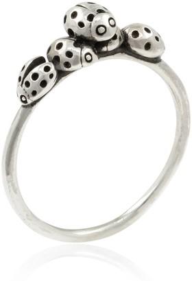 Lee Renee Loveliness Of Ladybirds Ring - Silver