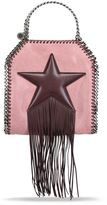 Stella McCartney burgundy falabella fringed star tiny tote