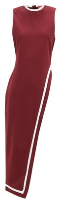 STAUD Dee Asymmetric Longline Top - Burgundy