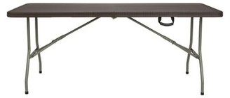 """Indoor and Outdoor 71"""" Rectangular Folding Table Offex"""