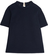 Marni Buckled Textured-neoprene Top - Navy