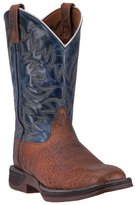 Laredo Western Boots Mens Great Bend Broad Square 12 EW Rust Navy 7459