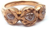 Damiani 18K Rose Gold Rough Diamond Sharon Stone Maji Ring