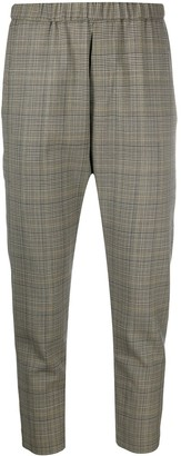 Nili Lotan Plaid Cropped Trousers