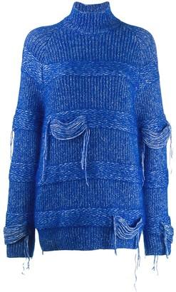 Mrz Distressed Chunky Knit Sweater