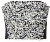 Vera Wang embellished strapless top - women - Wool/plastic/glass - 6