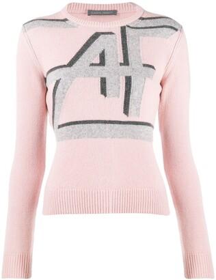 Alberta Ferretti Logo Print Knitted Sweater