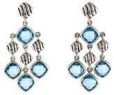 David Yurman Topaz Sculpted Cable Chandelier Earrings