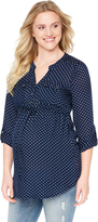 Motherhood Tie Front Maternity Tunic