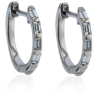 Shay White Gold Mini Baguette Diamond Earrings